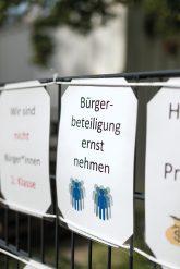 Plakat ,Bürgerbeteiligung ernst nehmen'