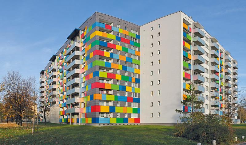 Woba-Plattenbau in Dresden