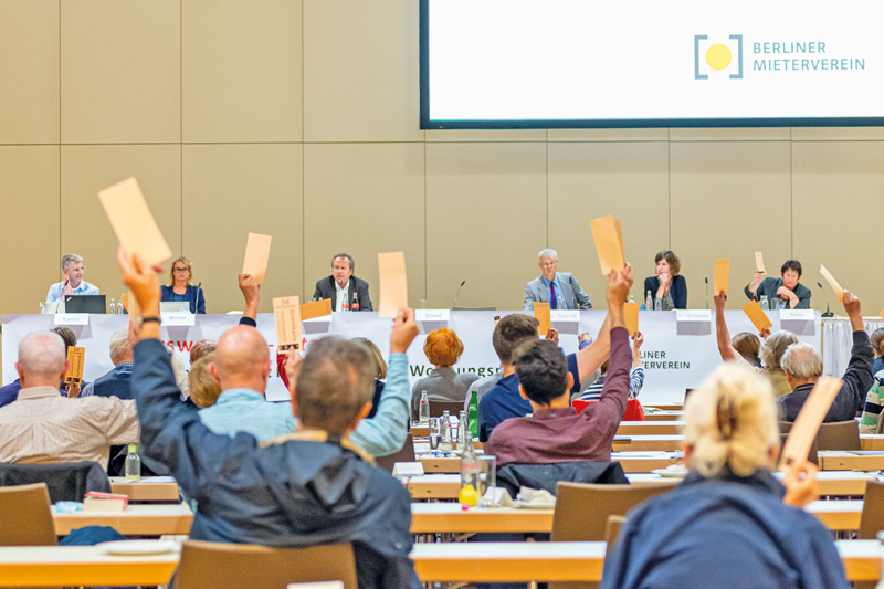 Delegierte bei der Abstimmung