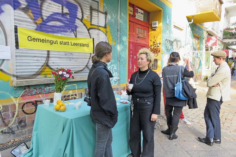 Protest gegen Leerstand in der Raumerstraße