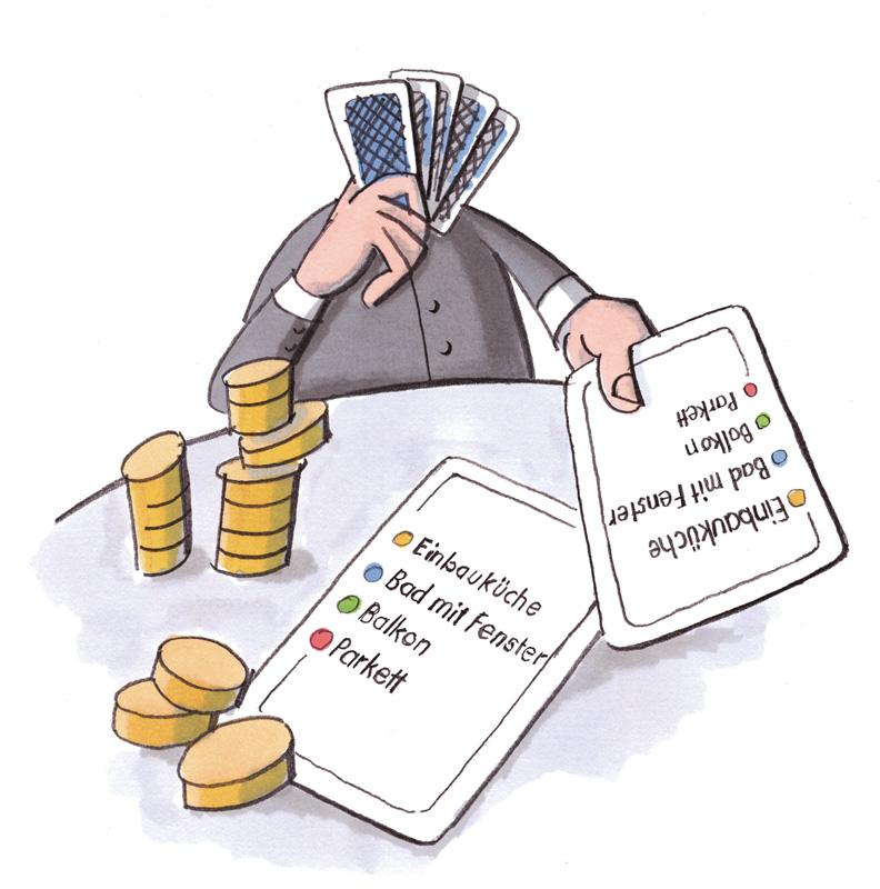 Illustration zum Mieterhöhungs-Poker