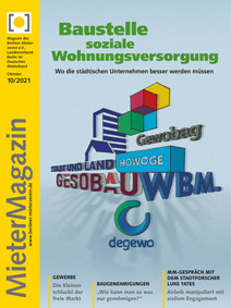 Titelseite MieterMagazin 10-2021